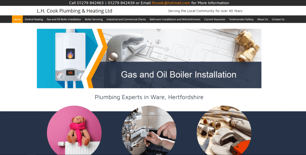 L H Cook Plumbing Amp Heating Ltd Thomson Local